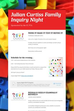 Julian Curtiss Family Inquiry Night