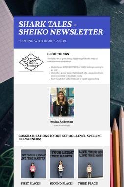 SHARK TALES - SHEIKO NEWSLETTER