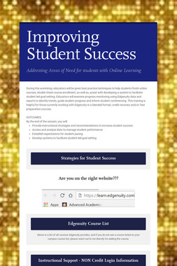 Improving Student Success