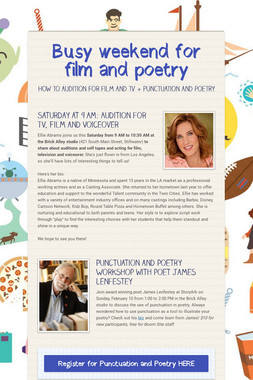 Busy weekend for film and poetry