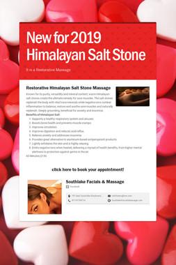 New for 2019 Himalayan Salt Stone