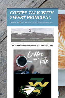 COFFEE TALK WITH ZWEST PRINCIPAL