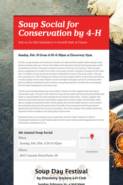 Soup Social for Conservation by 4-H