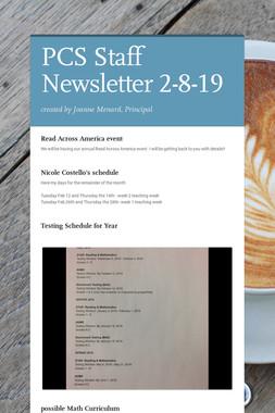 PCS Staff Newsletter 2-8-19