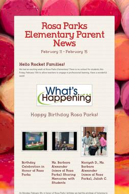 Rosa Parks Elementary Parent News