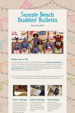 Sample Beach Buddies' Bulletin