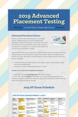 2019 Advanced Placement Testing