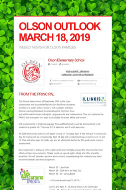 OLSON OUTLOOK   MARCH 18, 2019