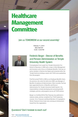 Healthcare Management Committee