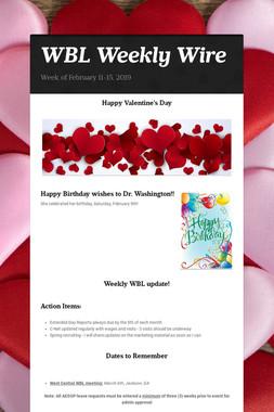 WBL Weekly Wire