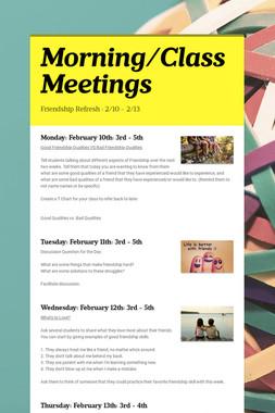 Class Meetings: 2/11 - 2/14