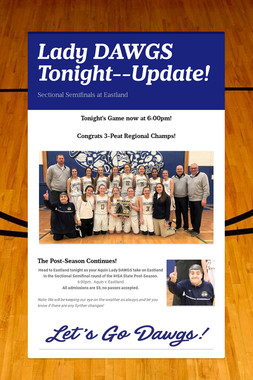 Lady DAWGS Tonight--Update!
