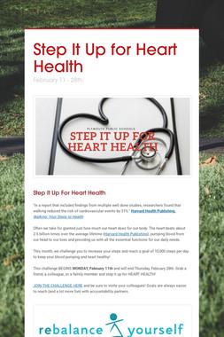 Step It Up for Heart Health