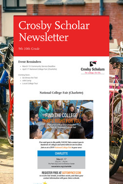 Crosby Scholar Newsletter