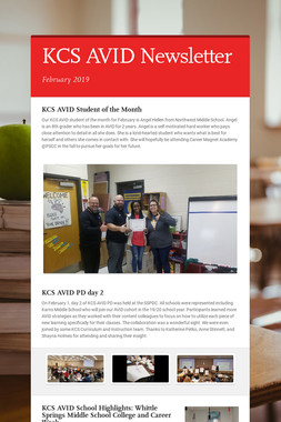 KCS AVID Newsletter