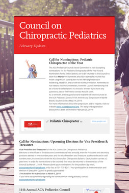 Council on Chiropractic Pediatrics
