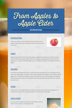 From Apples to Apple Cider