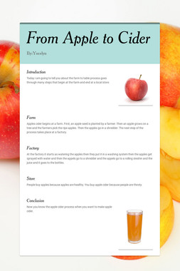 From Apple to Cider