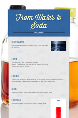 From Water to Soda