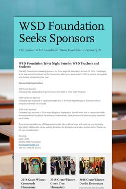 WSD Foundation Seeks Sponsors