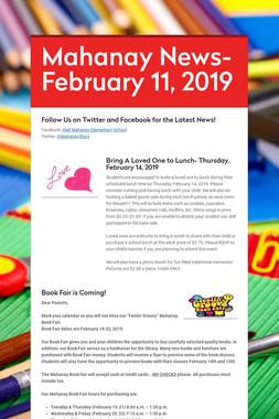 Mahanay News- February 11, 2019