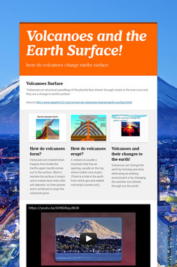 Volcanoes and the Earth Surface!