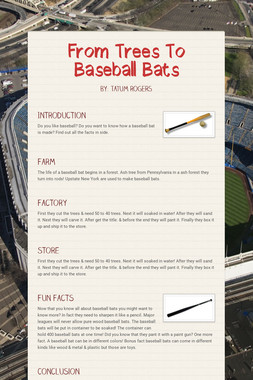 From Trees To Baseball Bats