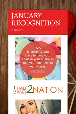 JANUARY RECOGNITION