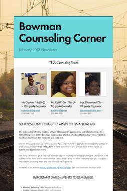 Bowman Counseling Corner