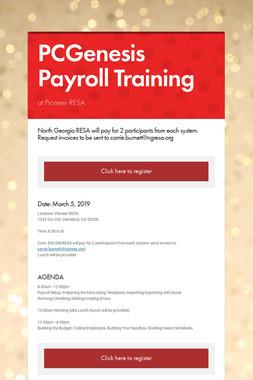 PCGenesis Payroll Training
