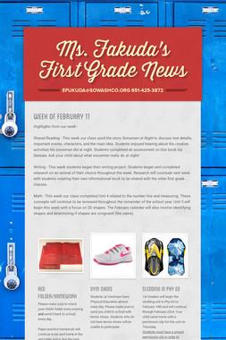 Ms. Fakuda's First Grade News