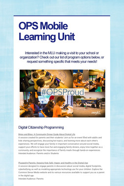 OPS Mobile Learning Unit