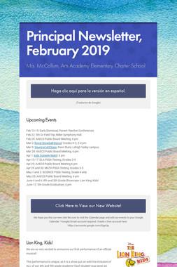 Principal Newsletter, February 2019