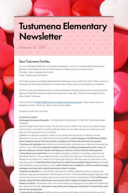 Tustumena Elementary Newsletter