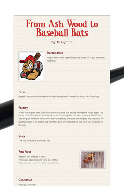 From Ash Wood to Baseball Bats