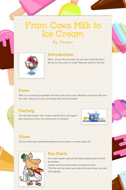 From Cows Milk to Ice Cream