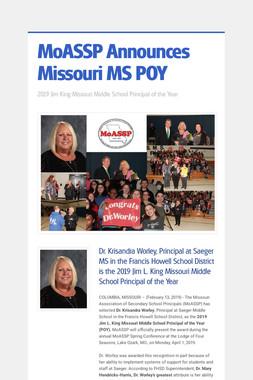 MoASSP Announces Missouri MS POY