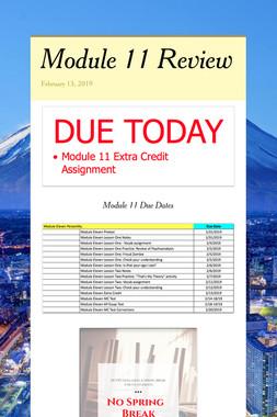 Module 11 Review