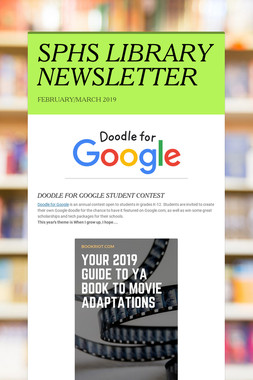 SPHS LIBRARY NEWSLETTER