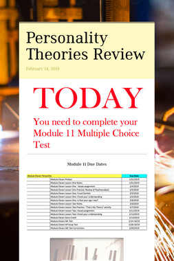 Personality Theories Review