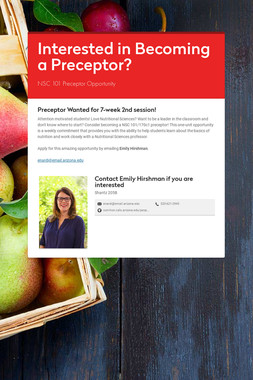 Interested in Becoming a Preceptor?