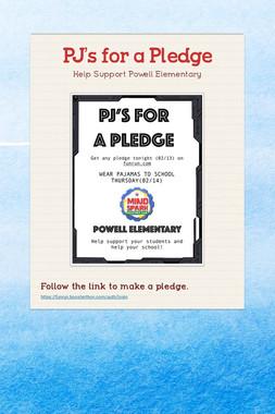 PJ's for a Pledge