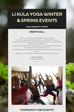 LI Kula Yoga Winter & Spring Events