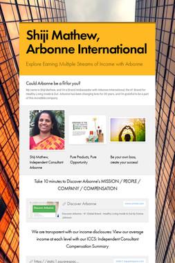 Shiji Mathew, Arbonne International