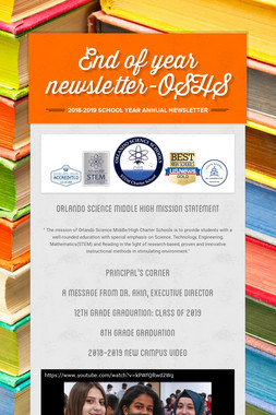 End of year newsletter-OSHS