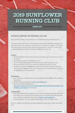 2019 Sunflower Running Club