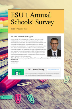 ESU 1 Annual Schools' Survey