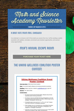 Math and Science Academy Newsletter