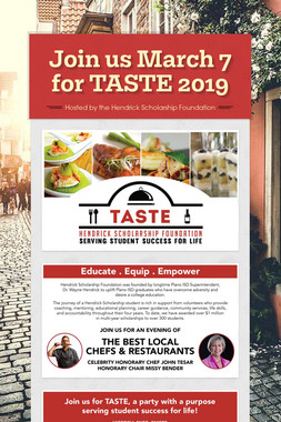 Join us March 7 for TASTE 2019