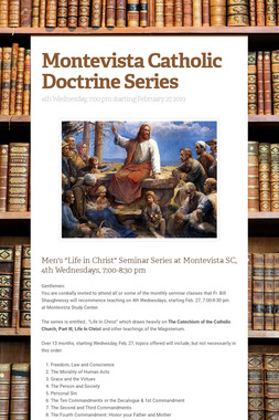 Montevista Catholic Doctrine Series